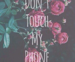 wallpaper, phone, and flowers image
