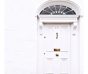 white, door, and home image