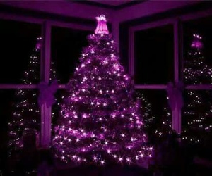 christmas, purple, and tree image
