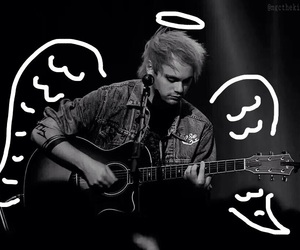 5sos, michael clifford, and angel image