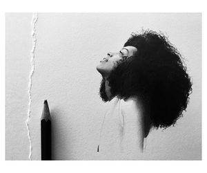 artwork, black woman, and drawing image