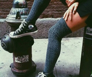 fashion, converse, and grunge image