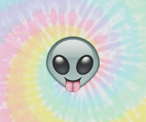 alien, emoji, and background image
