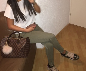 girl and Louis Vuitton image