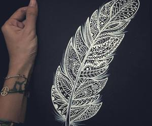 feather, art, and beautiful image