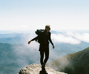 hike, mountains, and nature image