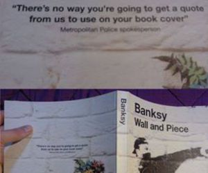 BANKSY, funny, and awesome image