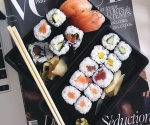 sushi, food, and vogue image