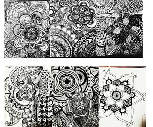 art, doodles, and mandala image