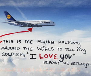 airplane, Flying, and I Love You image