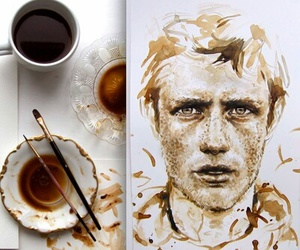 art, coffee, and coffe image