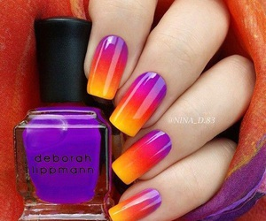 nails, nail art, and yellow image