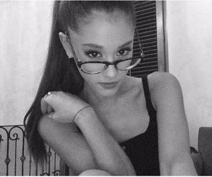 black and white, selfie, and glasses image