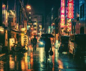 japan, tokyo, and lights image