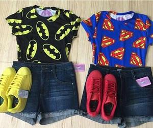 superman, batman, and fashion image