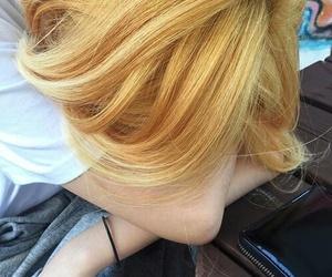 aesthetic, blonde, and ulzzang image