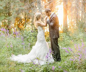 fashion, wedding, and forest image