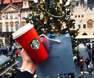 christmas, starbucks, and pandora image