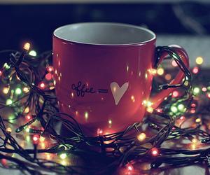 light, christmas, and coffee image