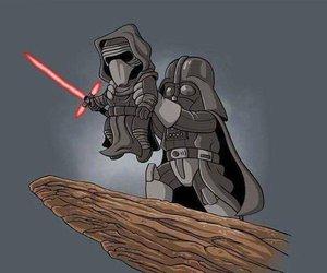 star wars, darth vader, and kylo ren image