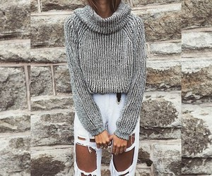 fashion, jeans, and ripped jeans image