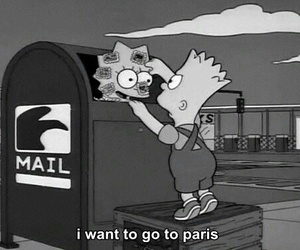 paris, simpsons, and bart image