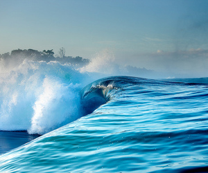 waves, ocean, and blue image