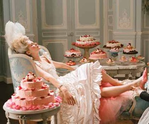 marie antoinette, cake, and Kirsten Dunst image