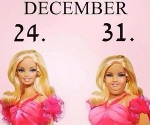barbie, christmas, and fat image