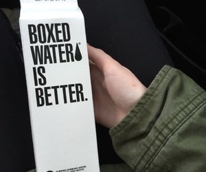 boxed water, tumblr, and water image