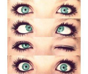 eyes, makeup, and green image