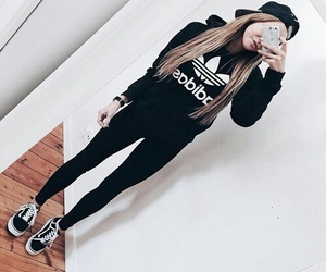 adidas, outfit, and black image