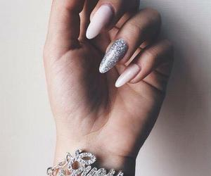 girl, nails, and bracelet image
