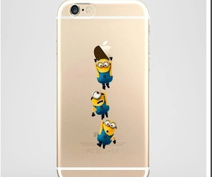 cover, iphone, and minions image