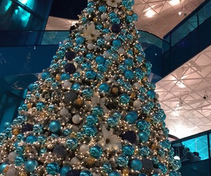 blue, christmas, and mall image