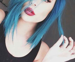 blue, girl, and blue hair image