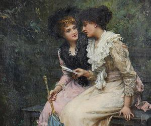 ladies, lady, and Letter image