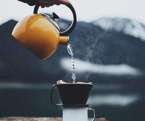 coffee, mountains, and mug image