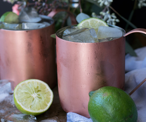 beverage, drink, and moscow mule image
