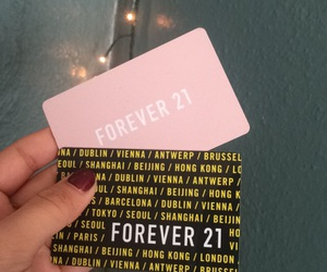 cards, forever 21, and girly image