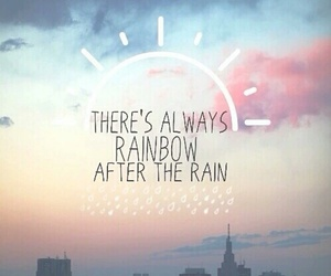rainbow, rain, and quotes image