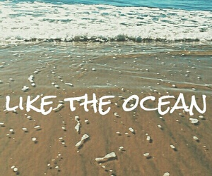 beach, pacific, and text image