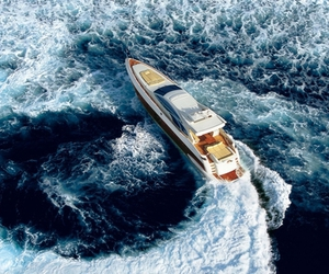 luxury, boat, and ocean image