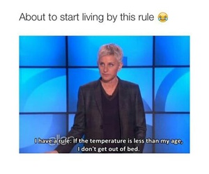 funny, ellen, and rule image