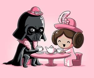 star wars, darth vader, and pink image