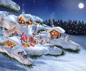 winter, christmas, and night image