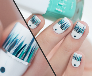 blue, nail, and white image