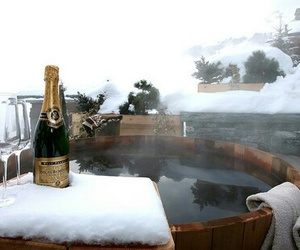 champagne, winter, and luxury image