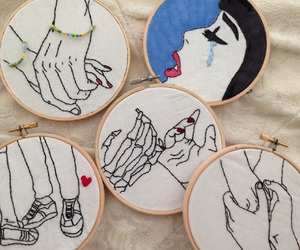 'girls', 'hands', and 'pale' image