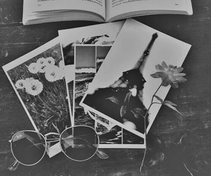 flowers, book, and photo image